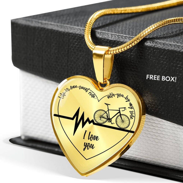 Life is one Sweet Ride - Cycling Dedication Heart