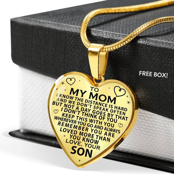 To My Mom Loved More Than You Know Mother's Day Necklace