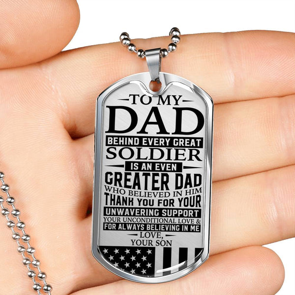 To My Dad - Great Soldier - Black Edition - Love, Your Son