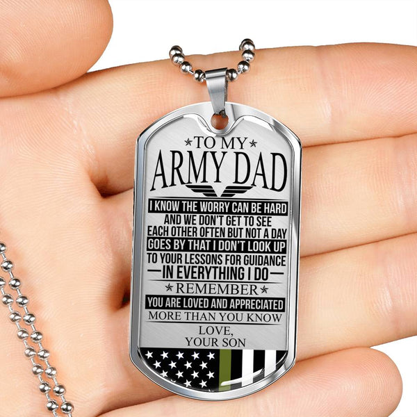 To My Army Dad - The Worry - Dog Tag