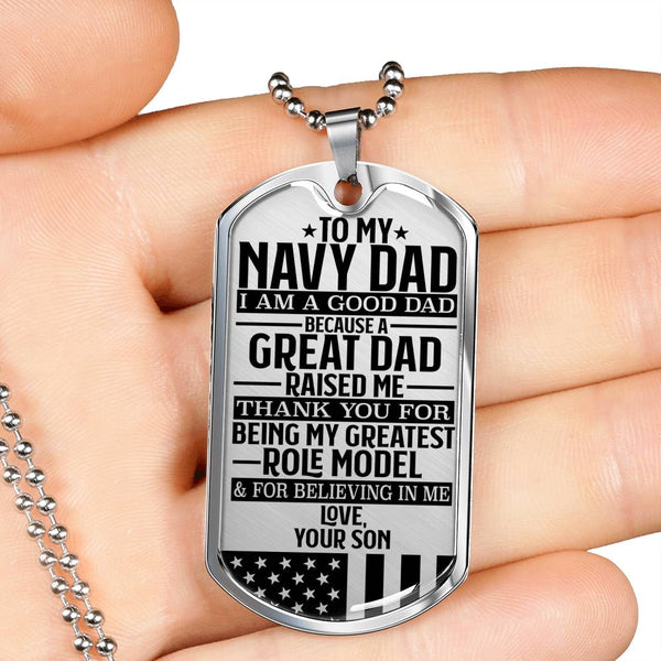 To My Navy Dad - Great Dads - Black Edition - Love, Your Son