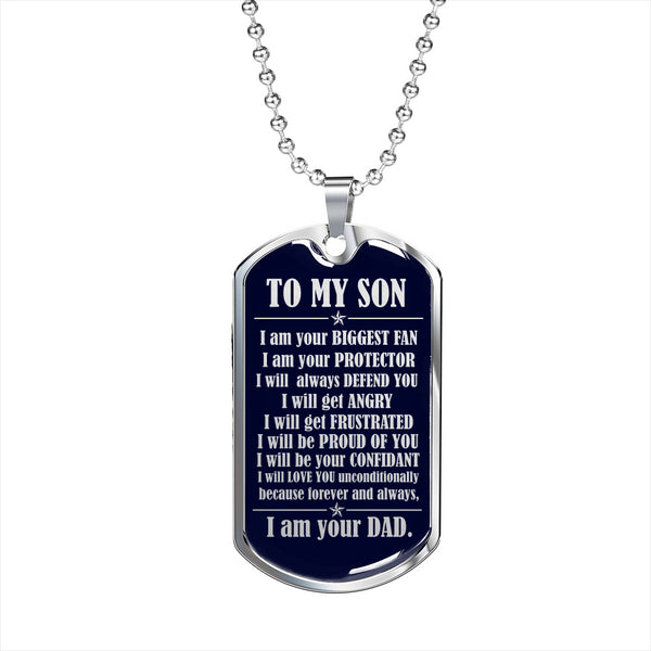 To My Son - Your Biggest Fan - Dog Chain Necklace