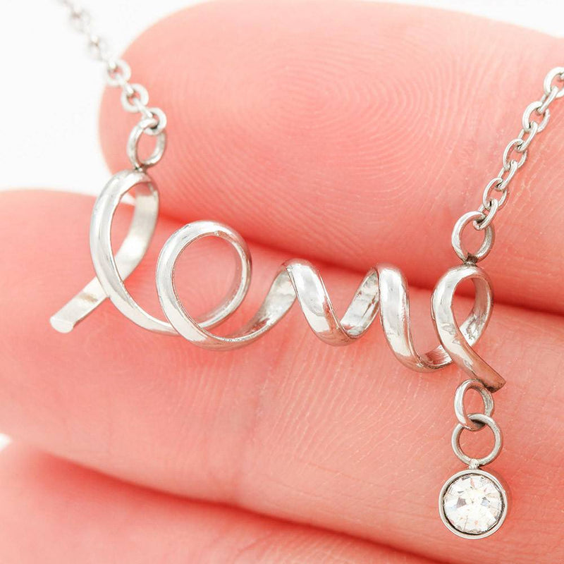 Military Mom Scripted Love Necklace (USA Stock)