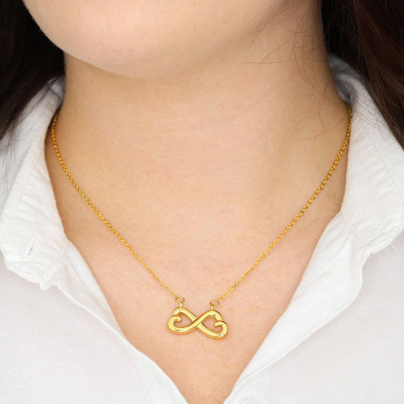 Blue Line Mom Infinity Heart Necklace