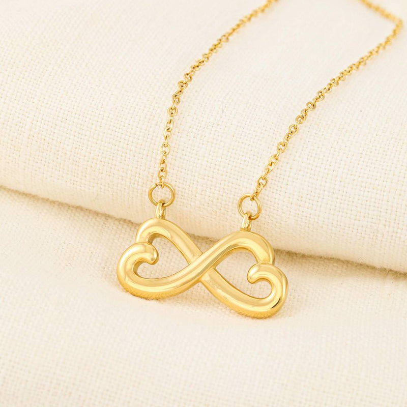Firefighter's Mom Infinity Heart Necklace