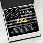 Military Mom Infinity Hearts Mother's Day Necklace