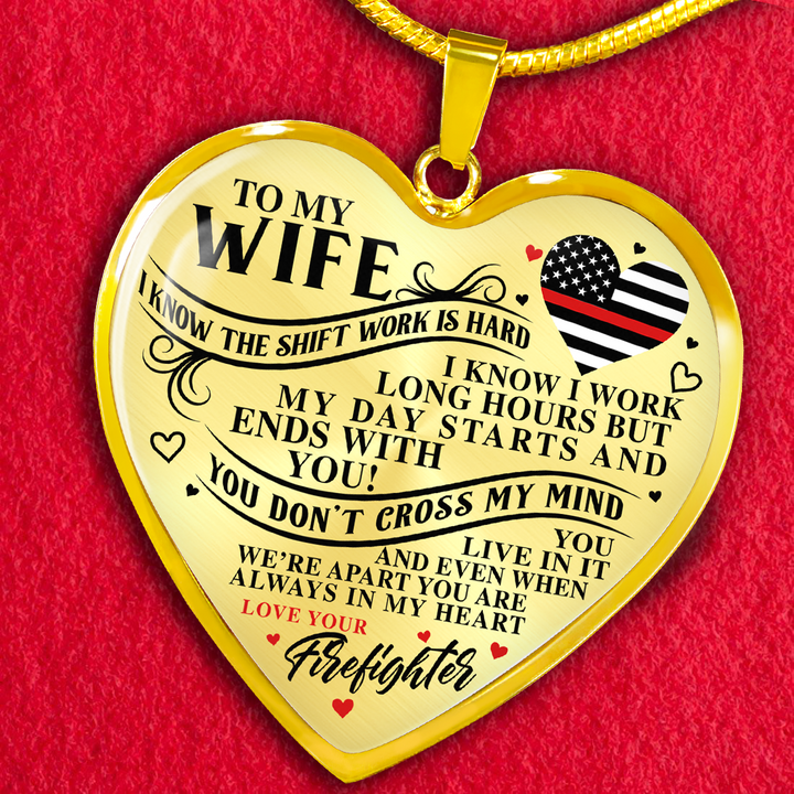 664d309a0acc2 Firefighter Wife You Are Always In My Heart Necklace (USA Made)