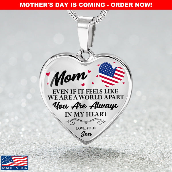 Military Mom Always In My Heart Necklace (🇺🇸USA Made🇺🇸)