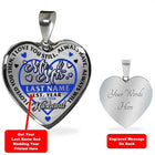 Personalized Mr. & Mrs. Thin Blue Line Heart Necklace (USA Made)
