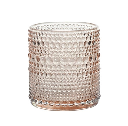 Small Glass Vessel | Pink + Textured
