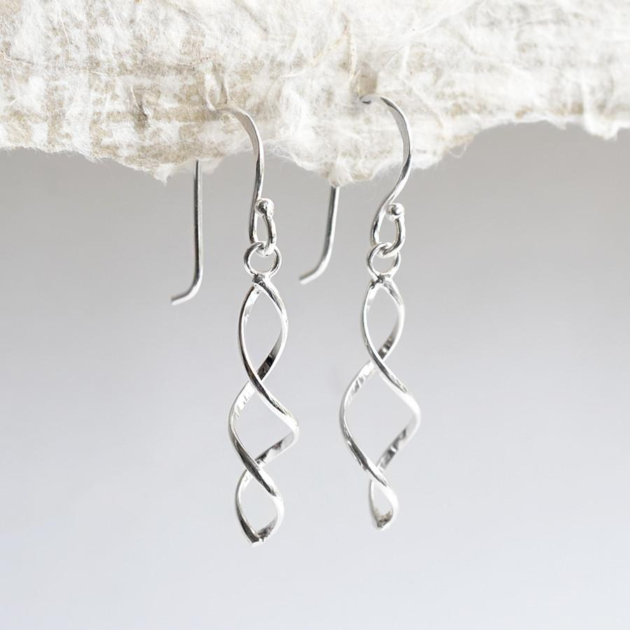 Silver Triple Twist Earrings