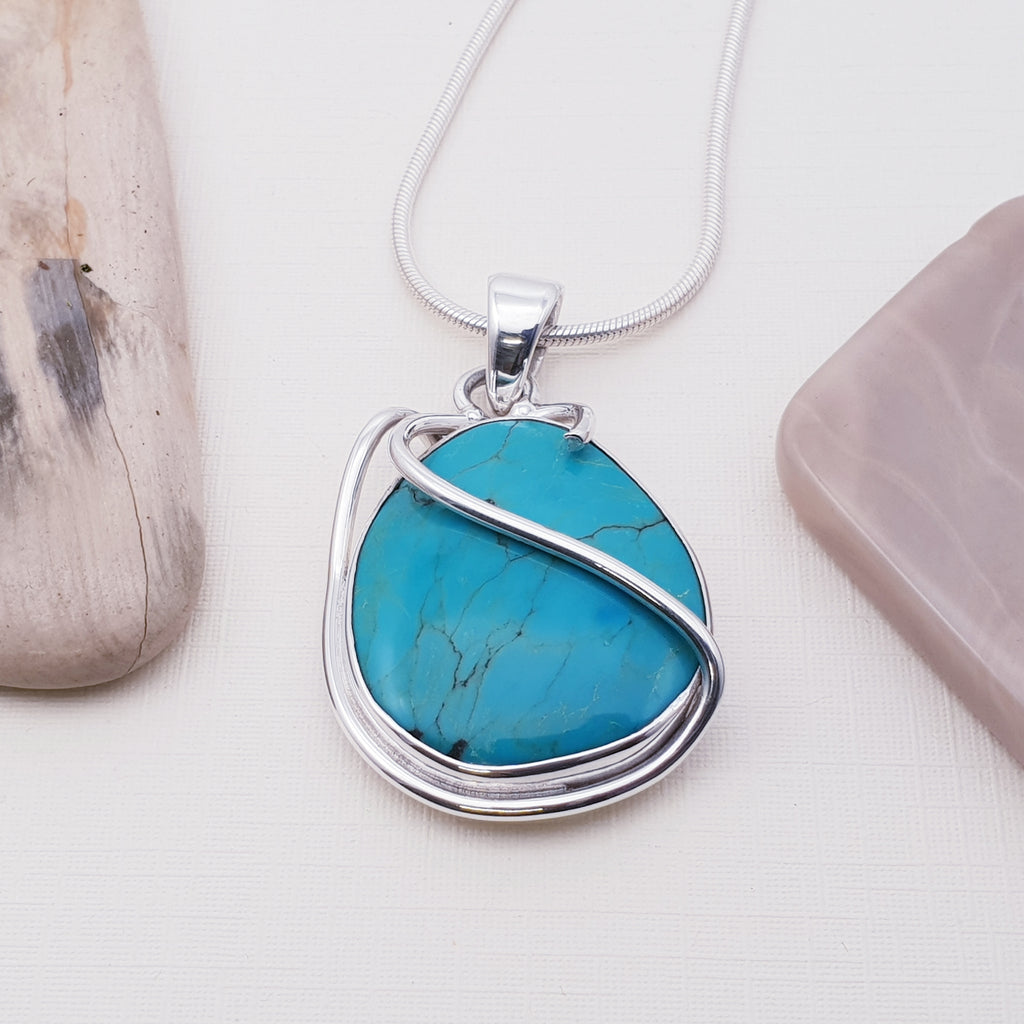 One-off Turquoise Ribbon Pendant