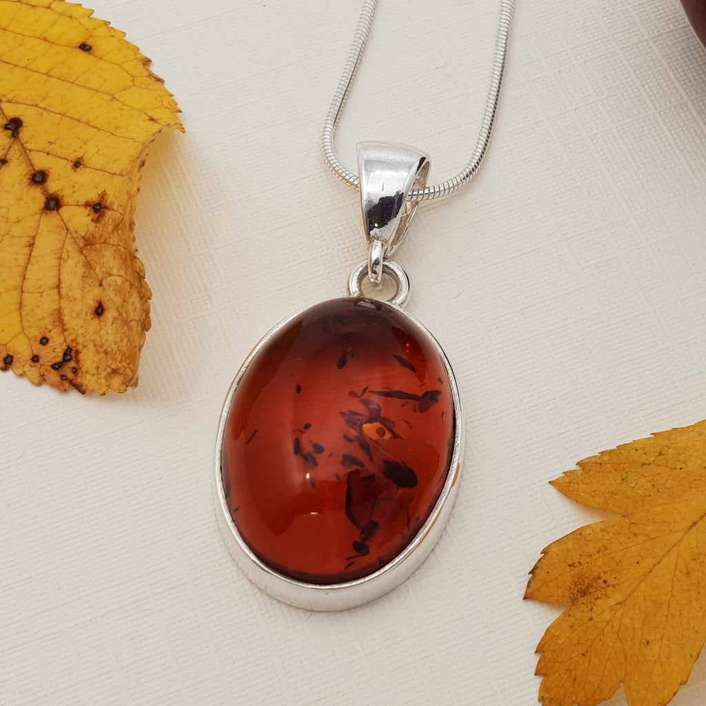 Amber Oval Toffee Pendant