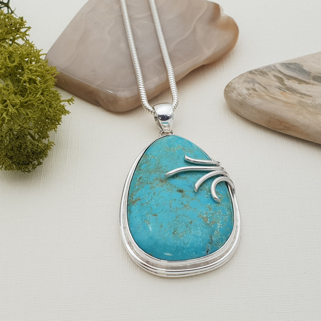 One-off Turquoise Teardrop Pendant