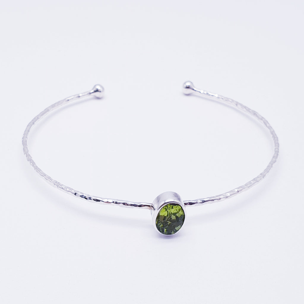 Peridot Little Stone Cuff