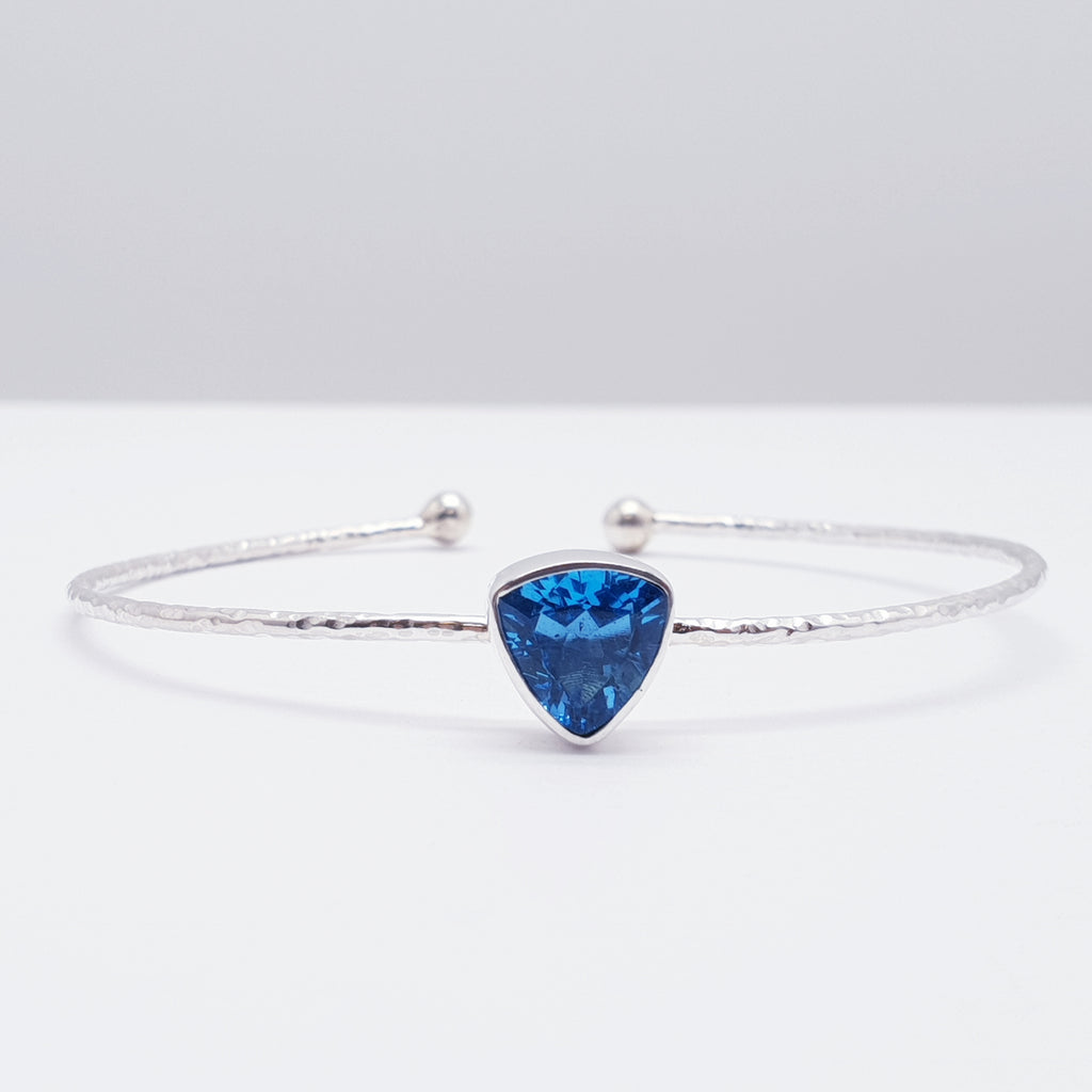 Swiss Blue Topaz Little Stone Cuff