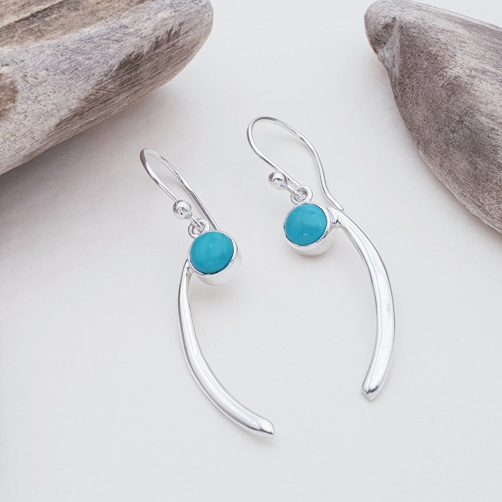 Turquoise Comma Earrings