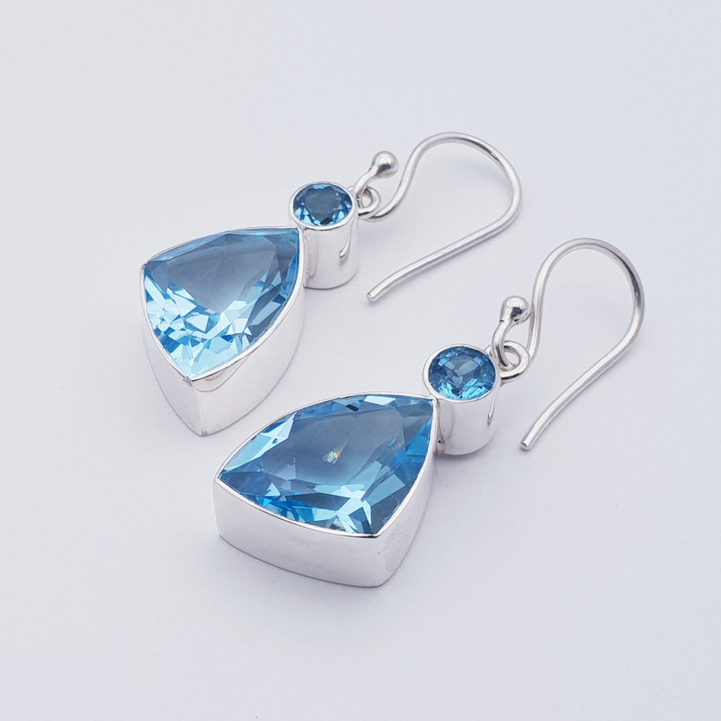 Swiss Blue Topaz Sparkly Dream Earrings