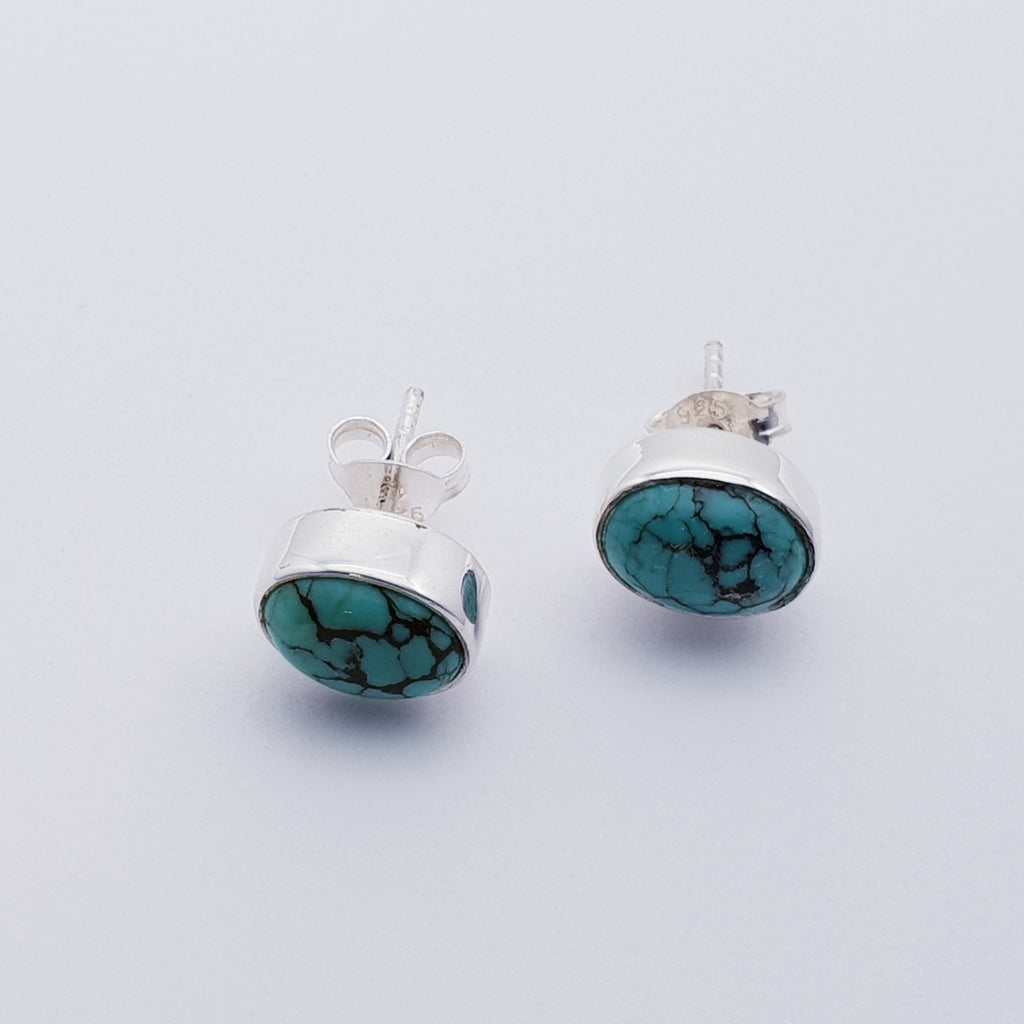 Turquoise Oval Studs