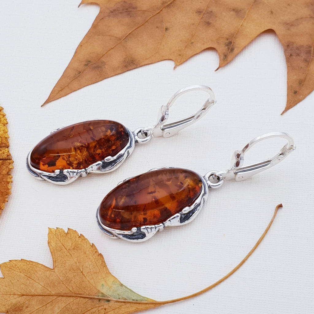 Amber Vintage Earrings