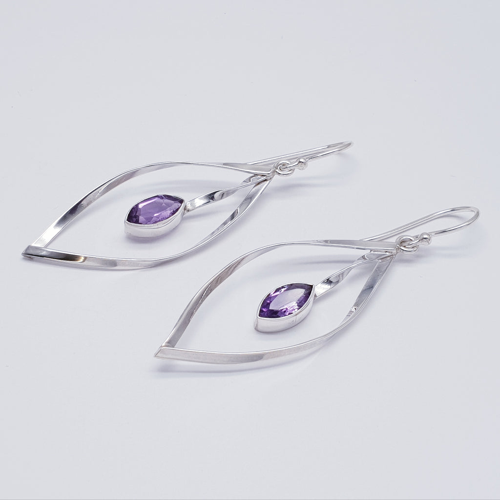 Amethyst Marquise Earrings
