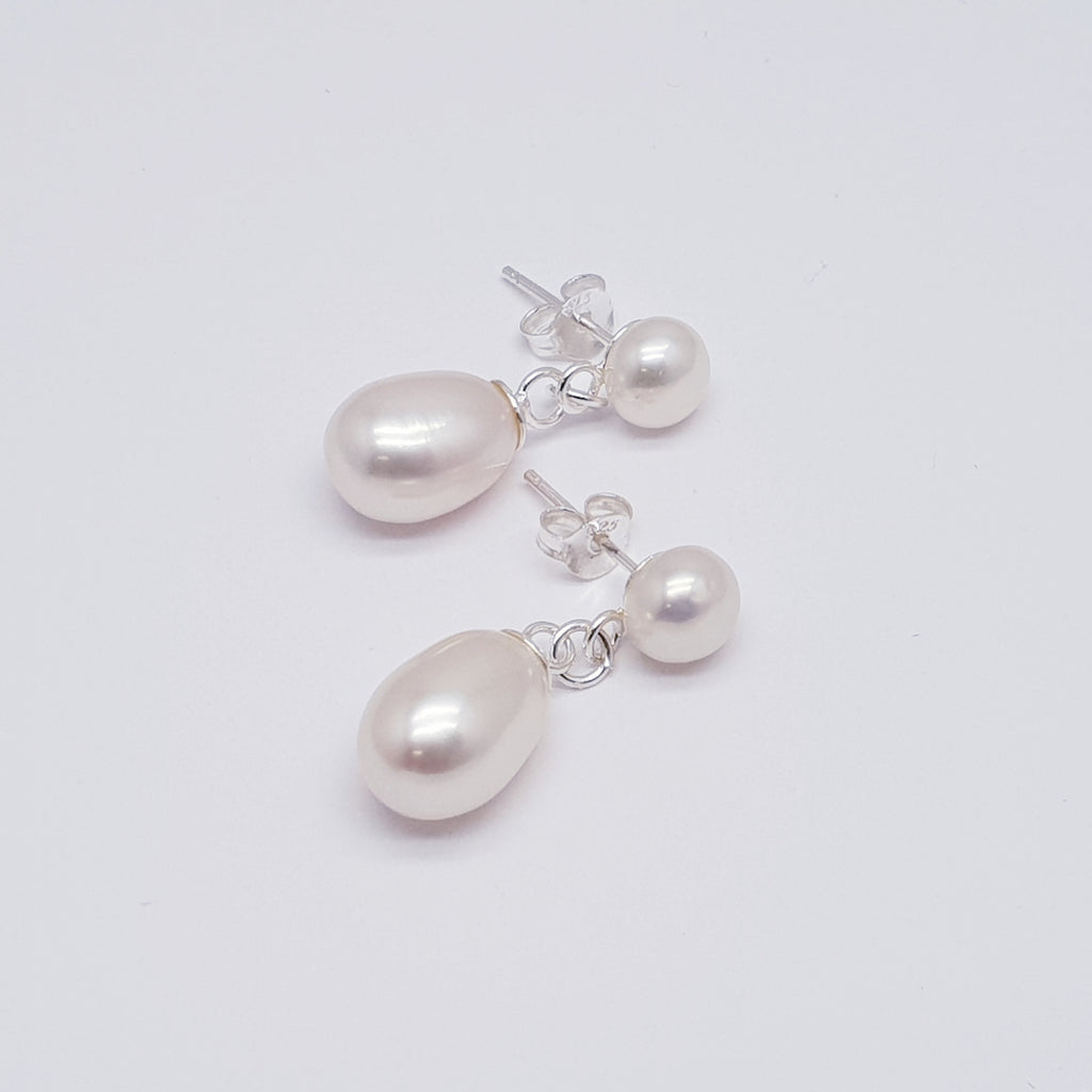 Pearl Duo Stud Earrings