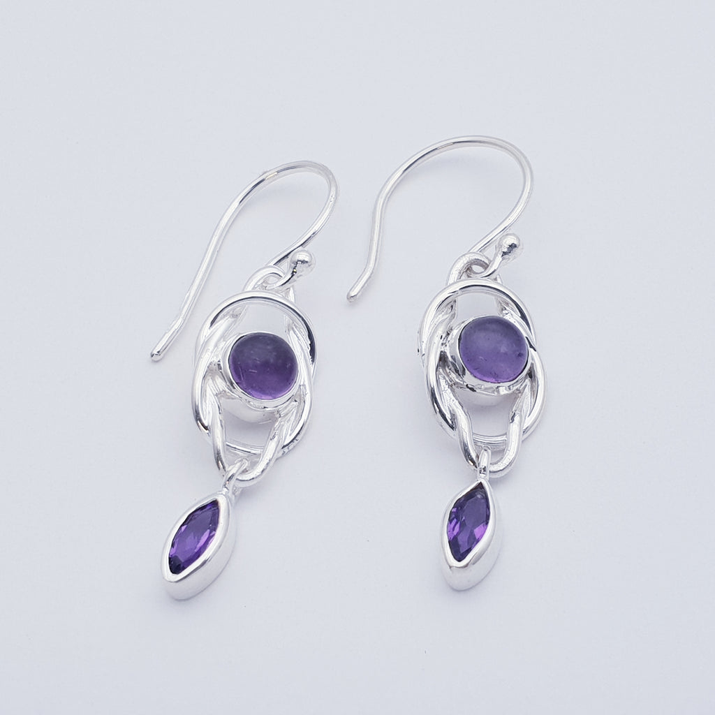Amethyst Knot Earrings