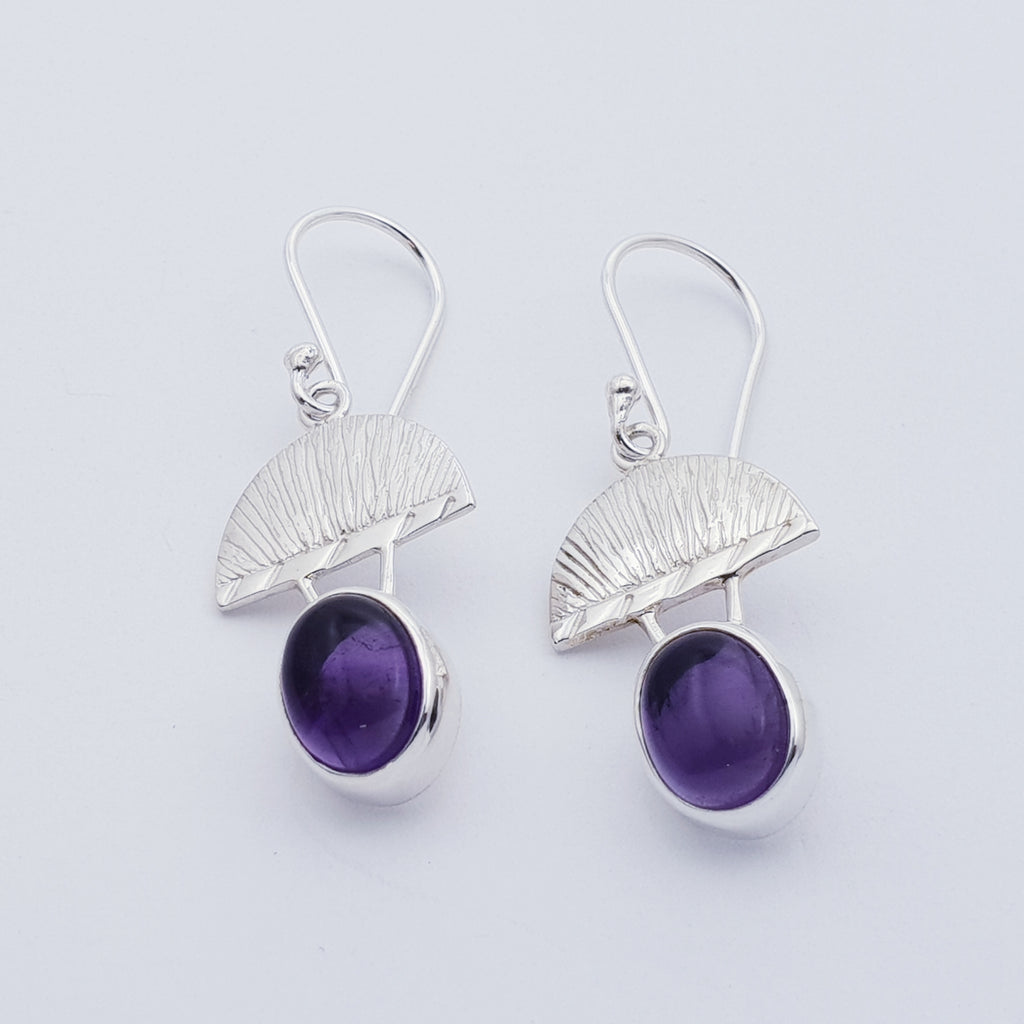 Amethyst Greek Goddess Earrings
