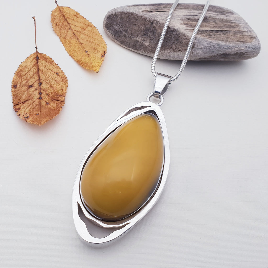 Amber Large Honey Pendant