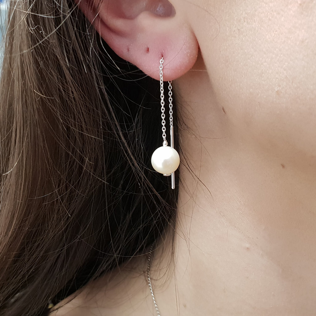 Pearl Pull Through Earrings