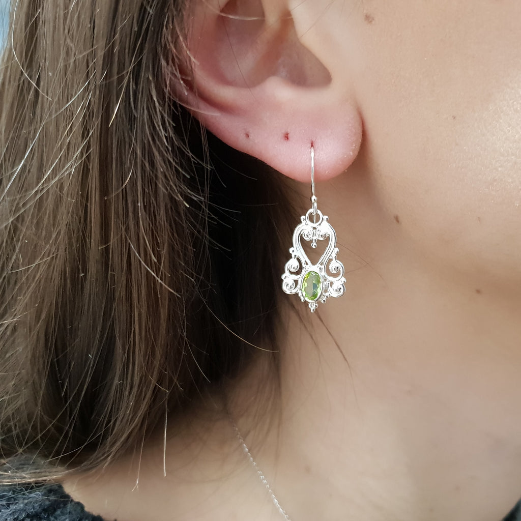 Peridot Victorian Earrings