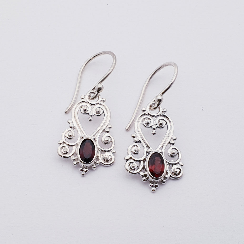 Garnet Victorian Earrings