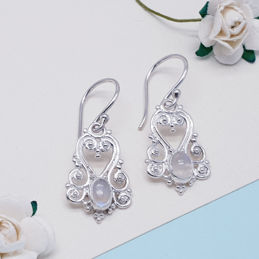 Moonstone Victorian Earrings