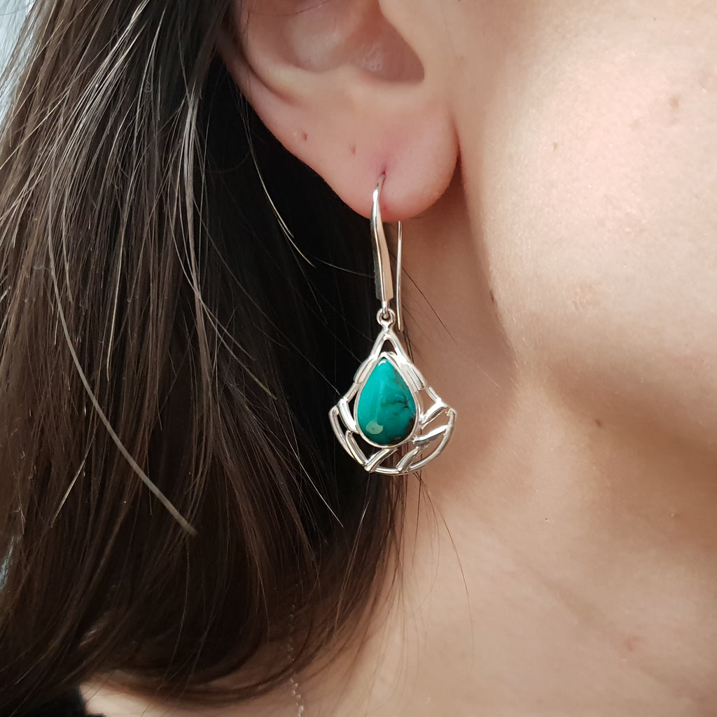 Turquoise Persephone Earrings