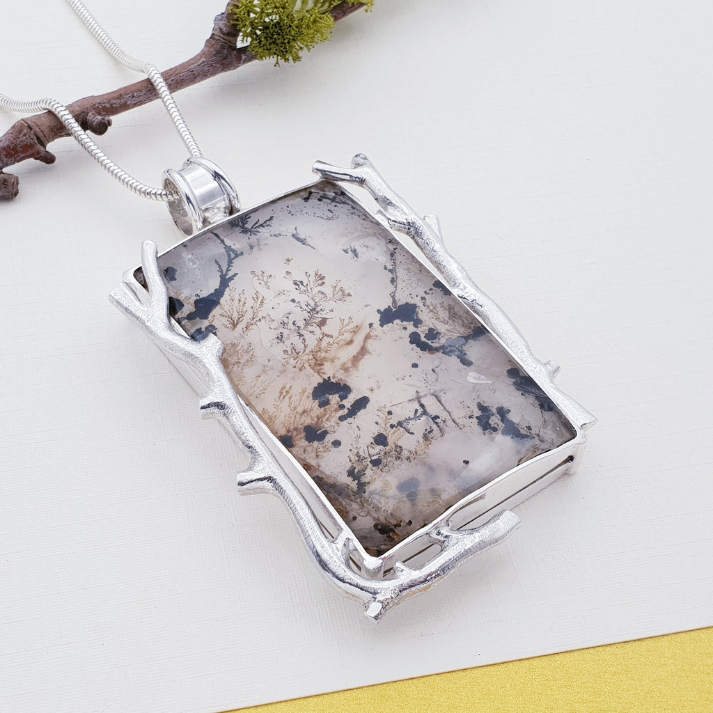 One-off Dendritic Quartz Twig Pendant