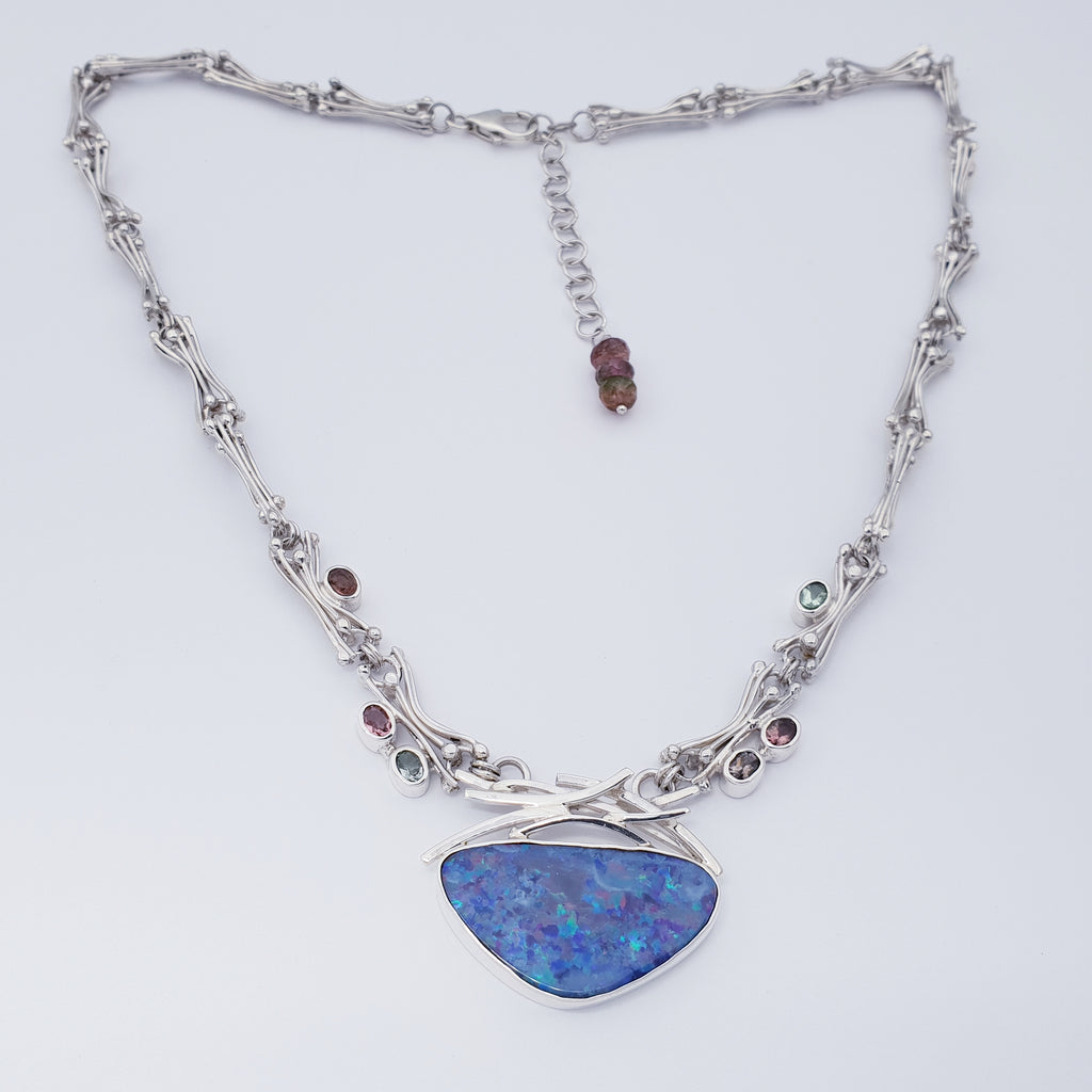 One-off Opal and Tourmaline Shalim Necklace
