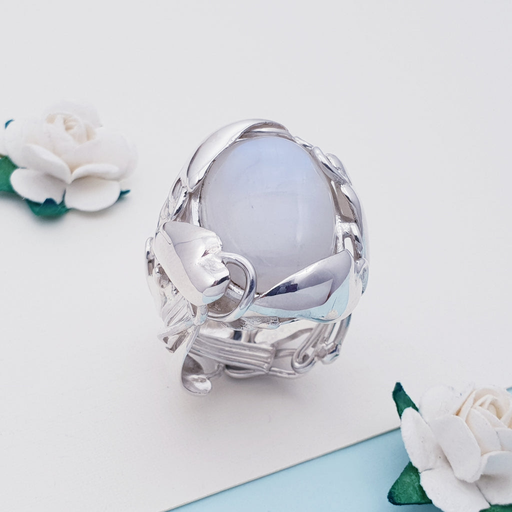One-off Moonstone Mother Nature Ring - Size P