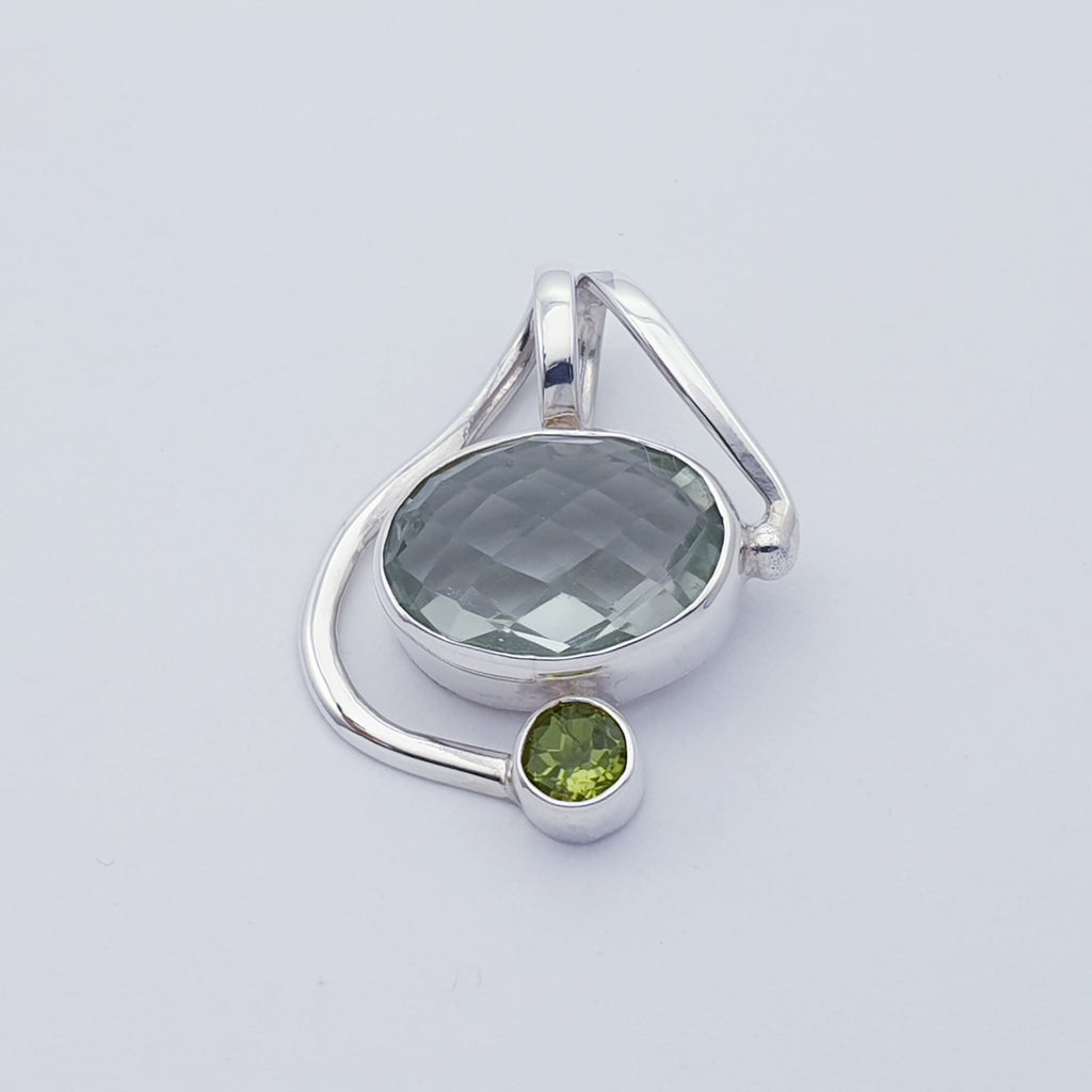 Green Amethyst and Peridot Zoria Pendant
