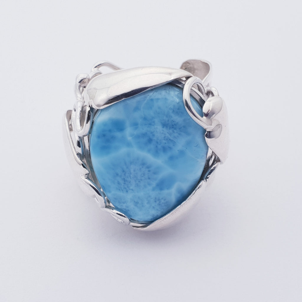One-off Larimar Mother Nature Ring - Size R