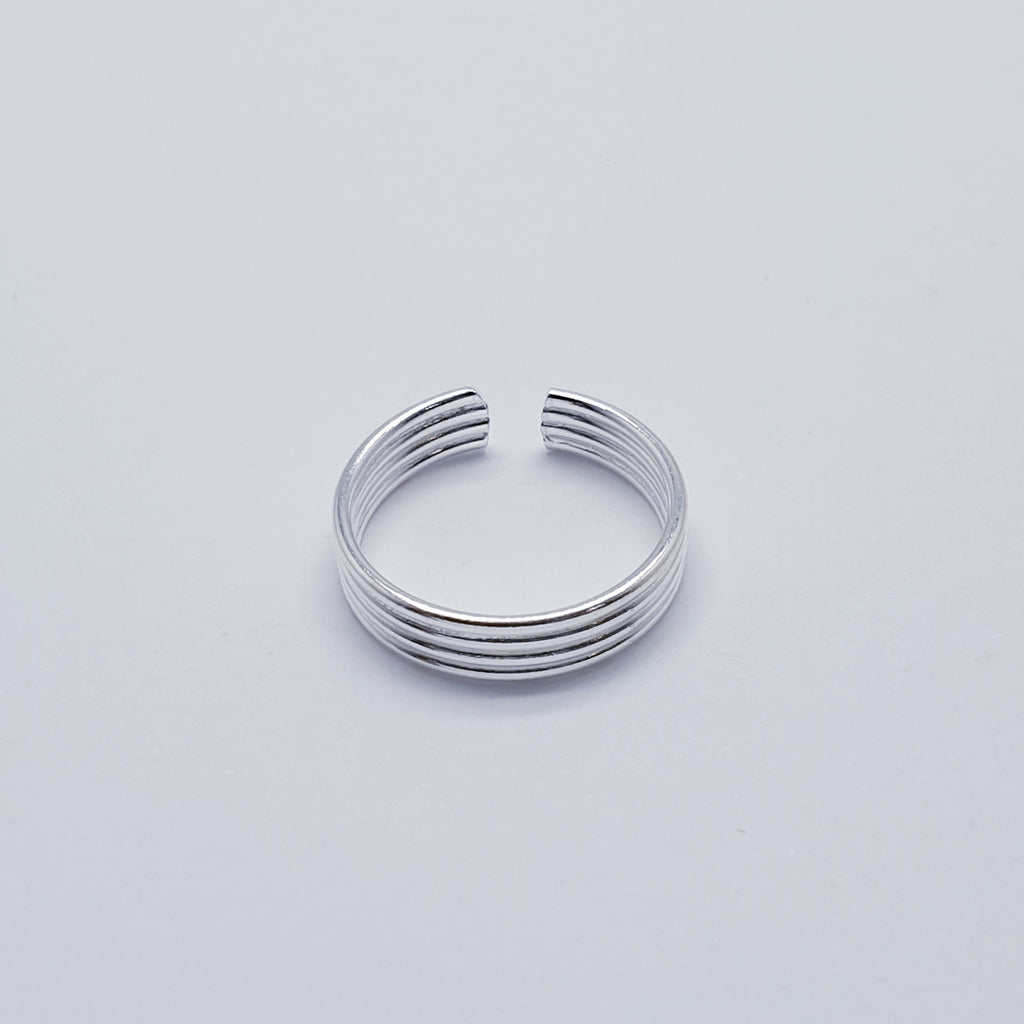 Silver Simple Toe Ring