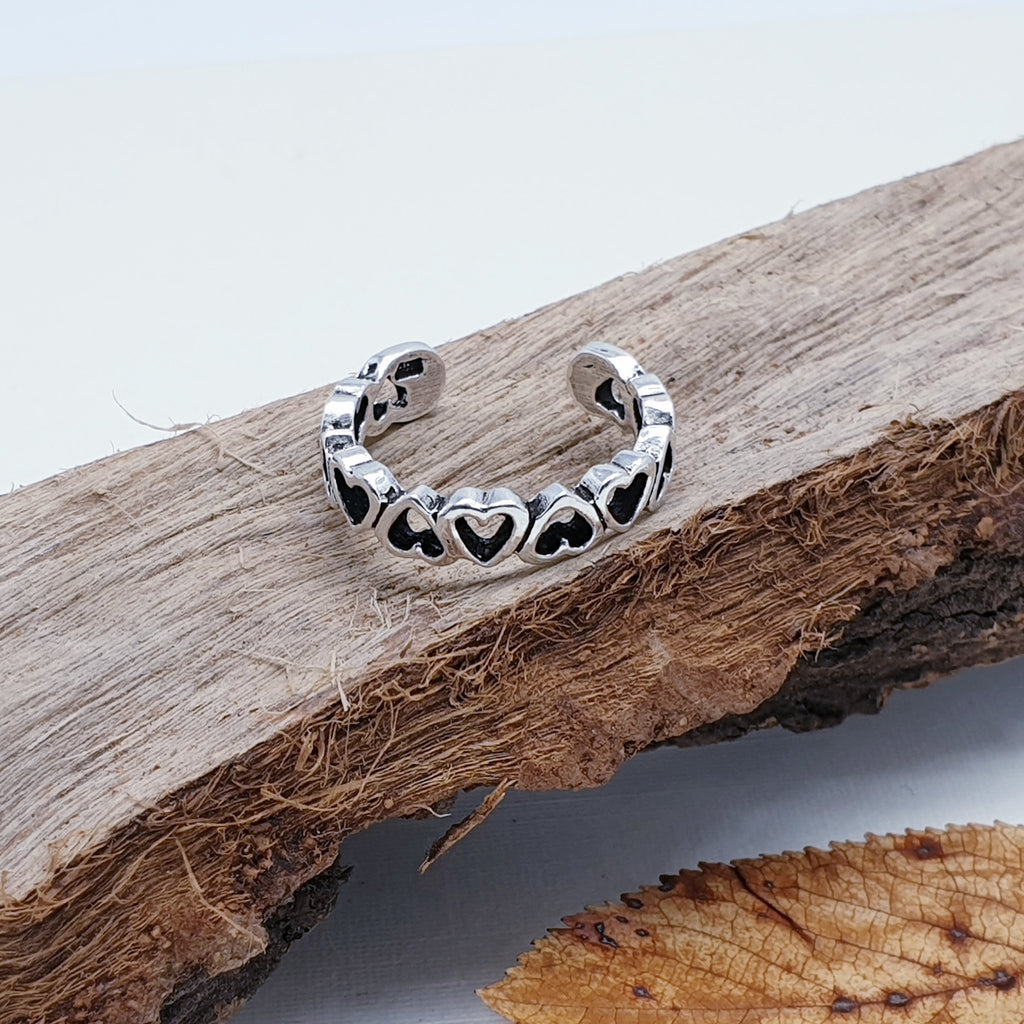 Silver Love Toe Ring