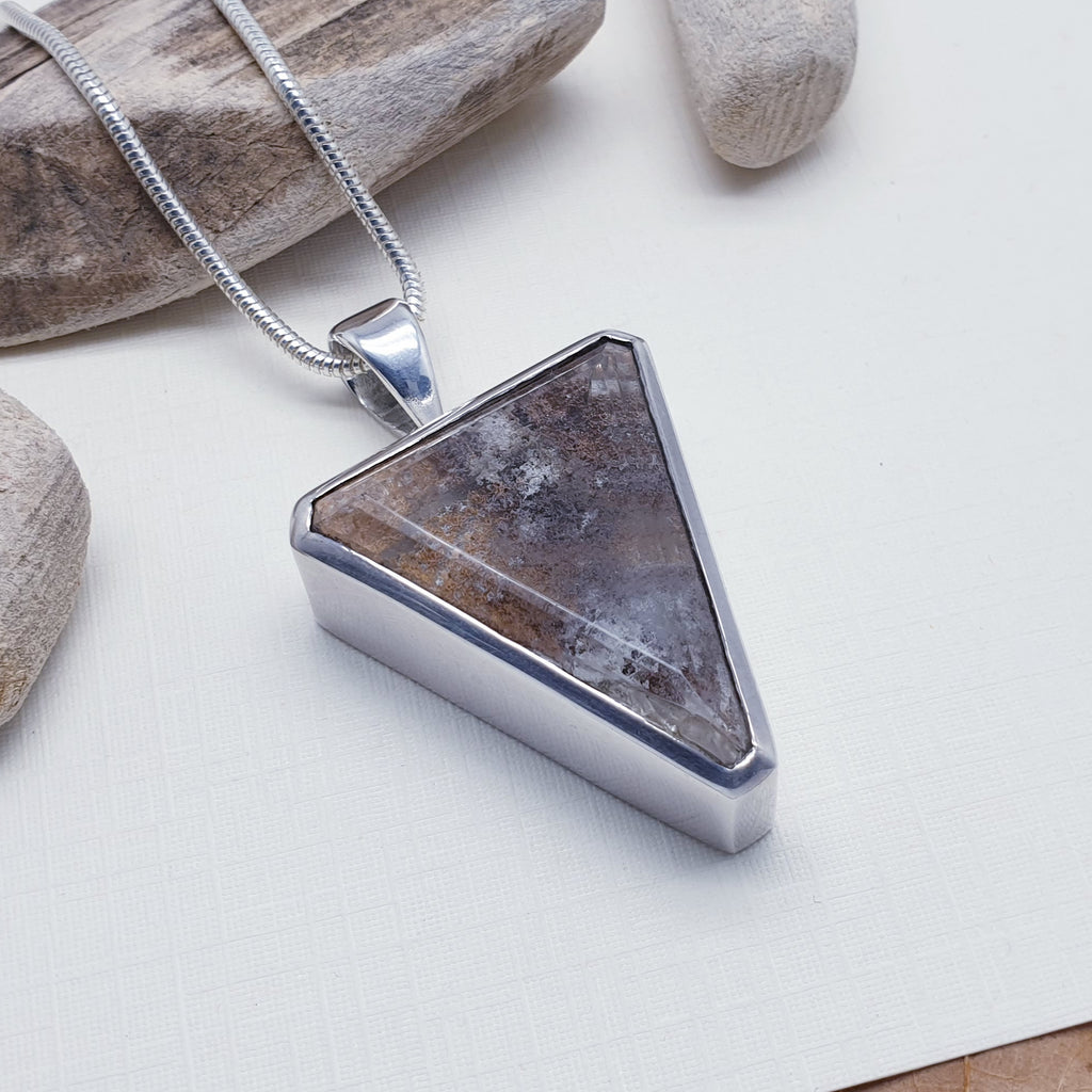 Lodolite Chunky Triangle Pendant