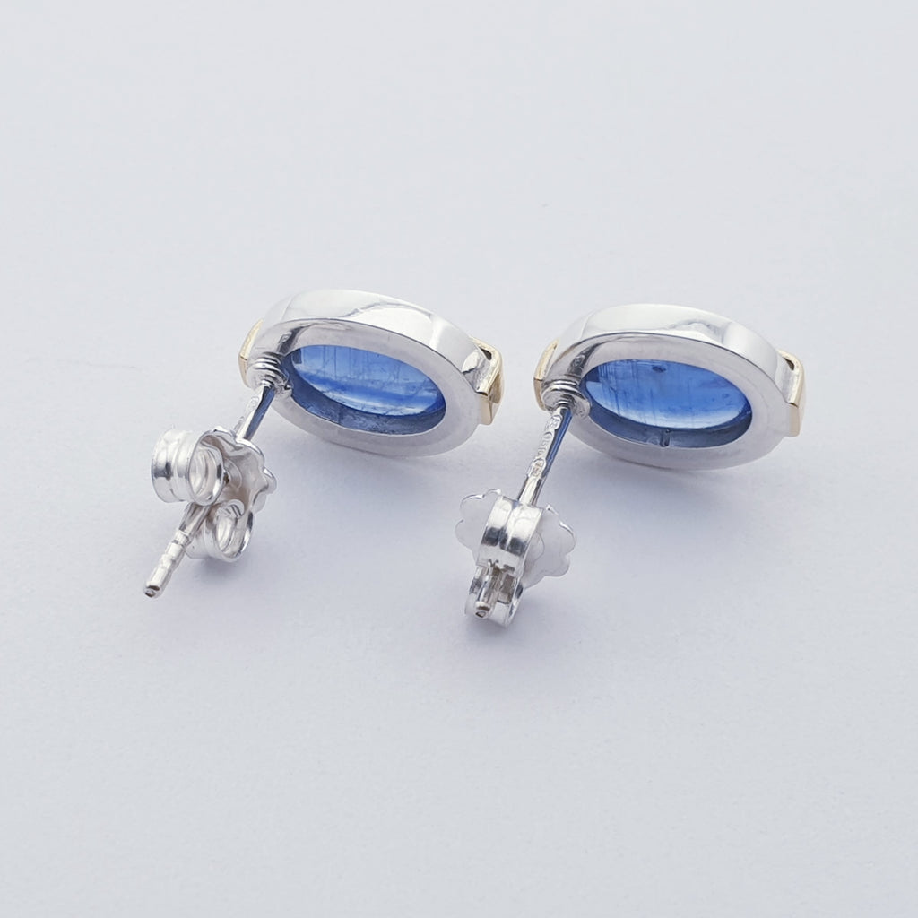 Kyanite 18K Gold and Sterling Silver Studs