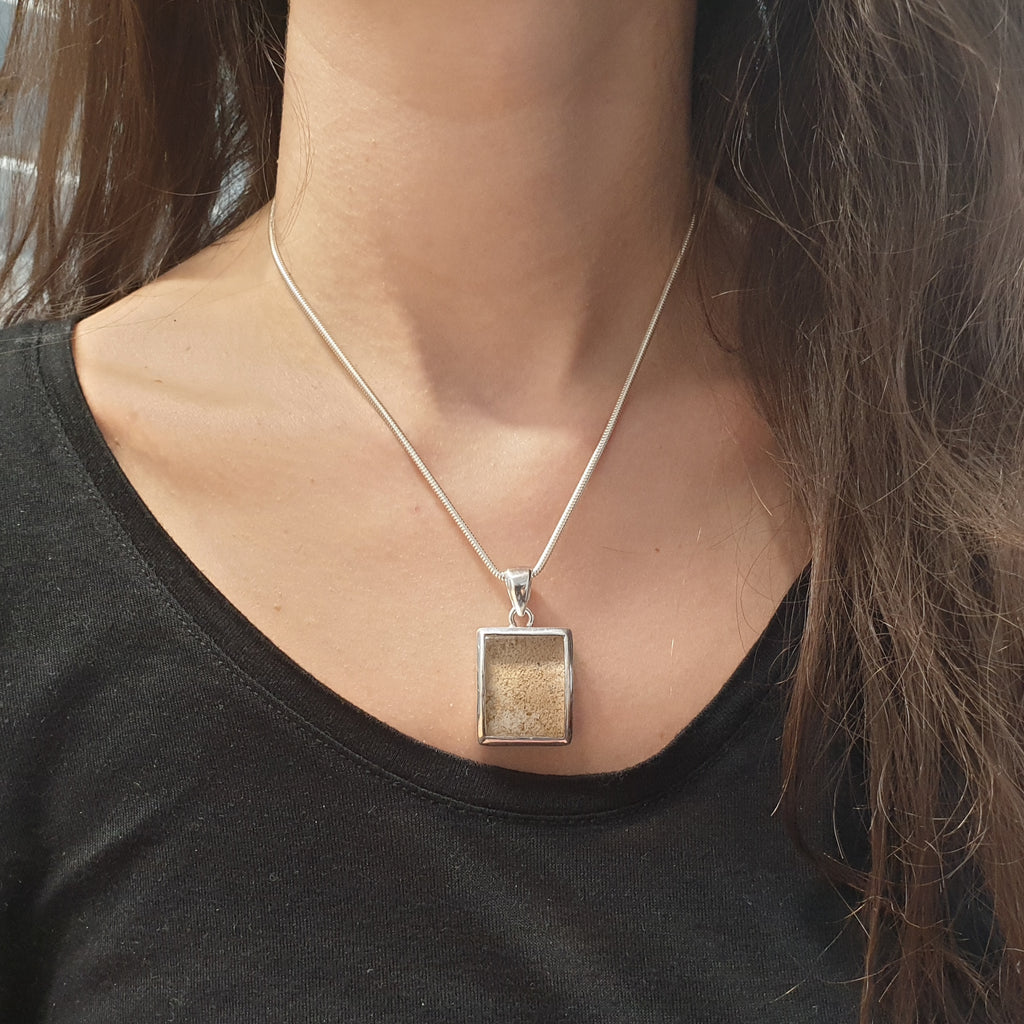 Lodolite Chunky Rectangle Pendant
