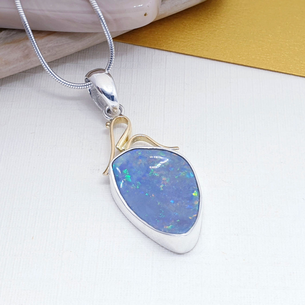 One-off Opal 18K Gold and Sterling Silver Pendant