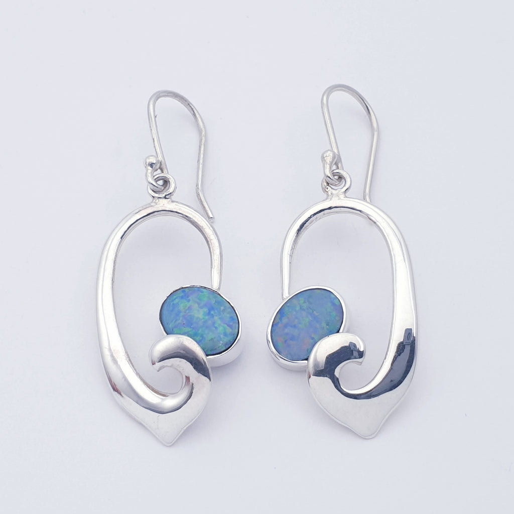 Opal Open Swirl Earrings