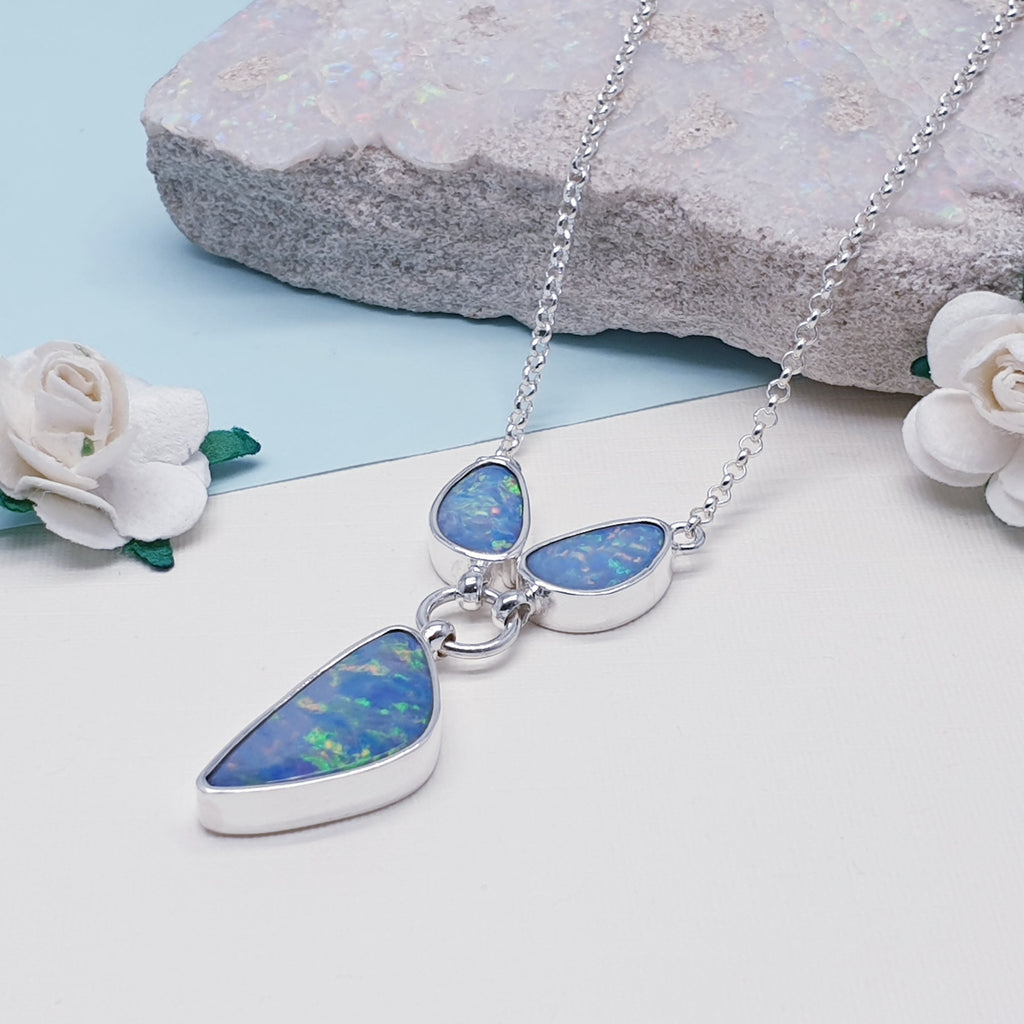 One-off Opal Large Three Stone Necklace
