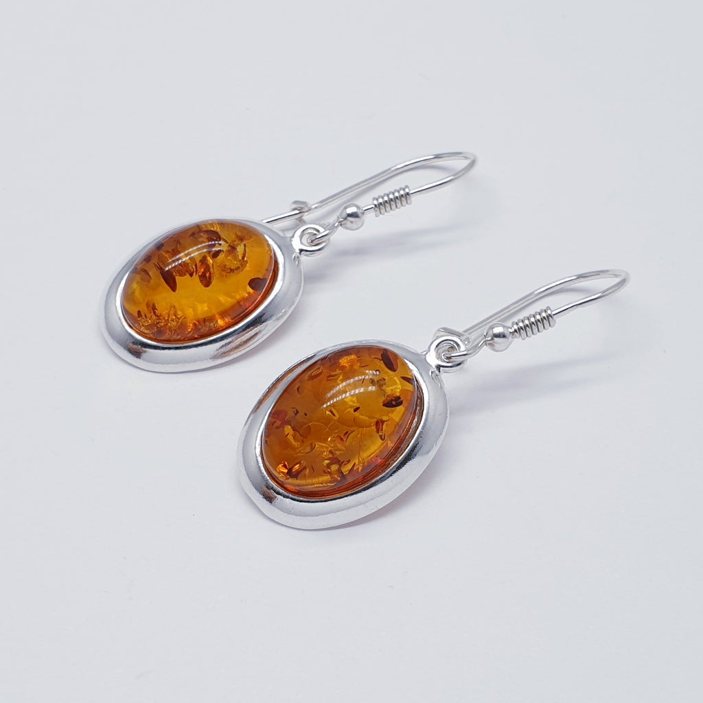 Toffee Amber Oval Earrings