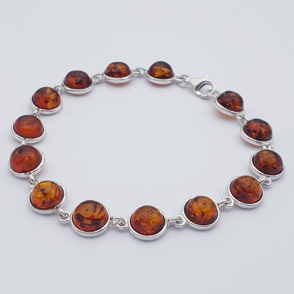 Green or Toffee Amber Circle Bracelet