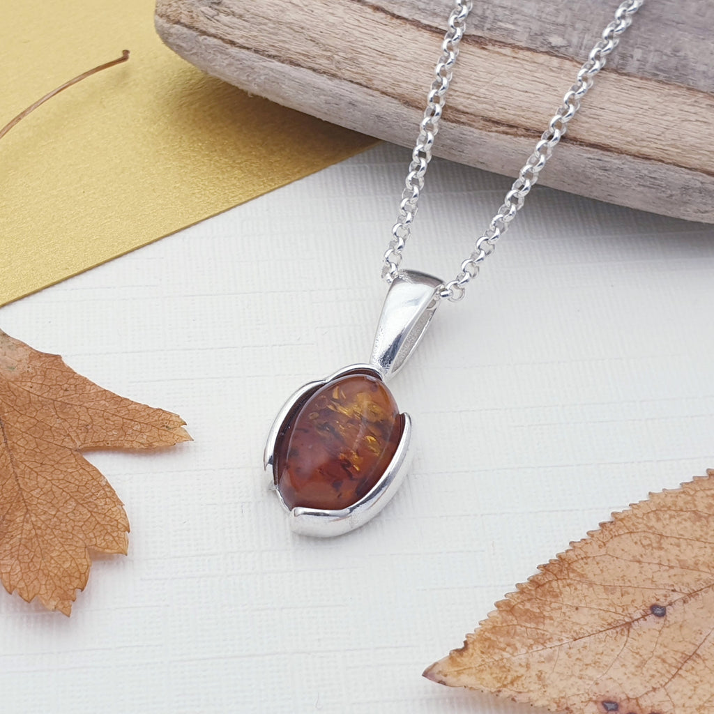 Toffee Amber Basia Pendant